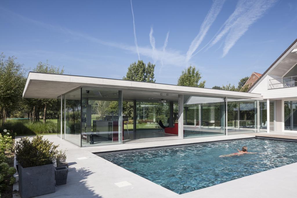 Poolhouse dd wannegem lede allaert aluminium for Anodisation maison